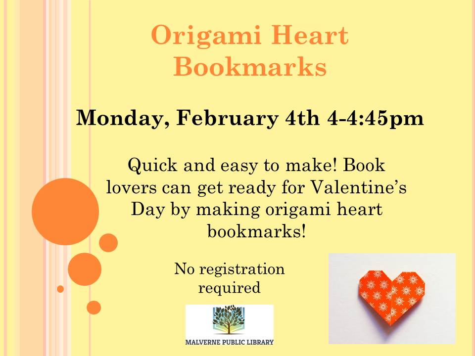 Origami heart bookmarks2019