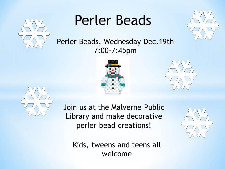 Perler Beads Dec 2018