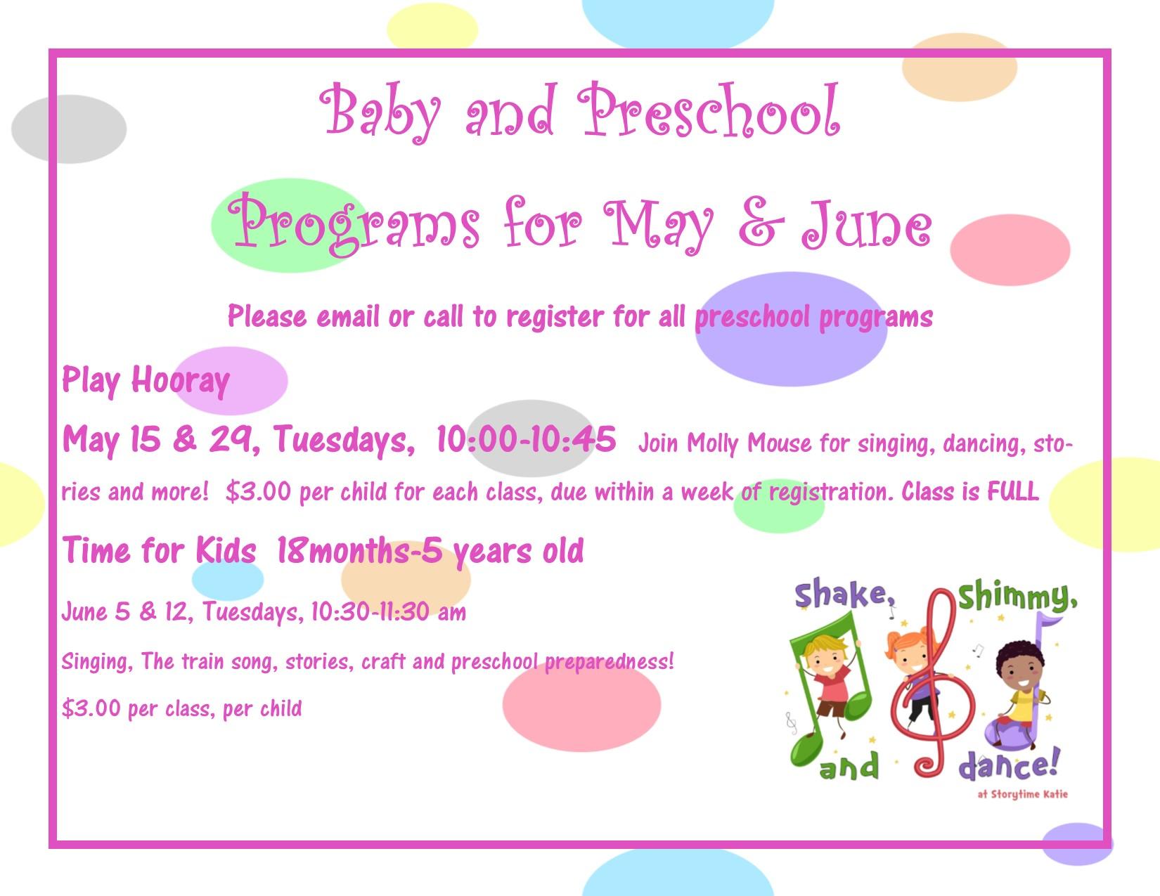 baby programs may