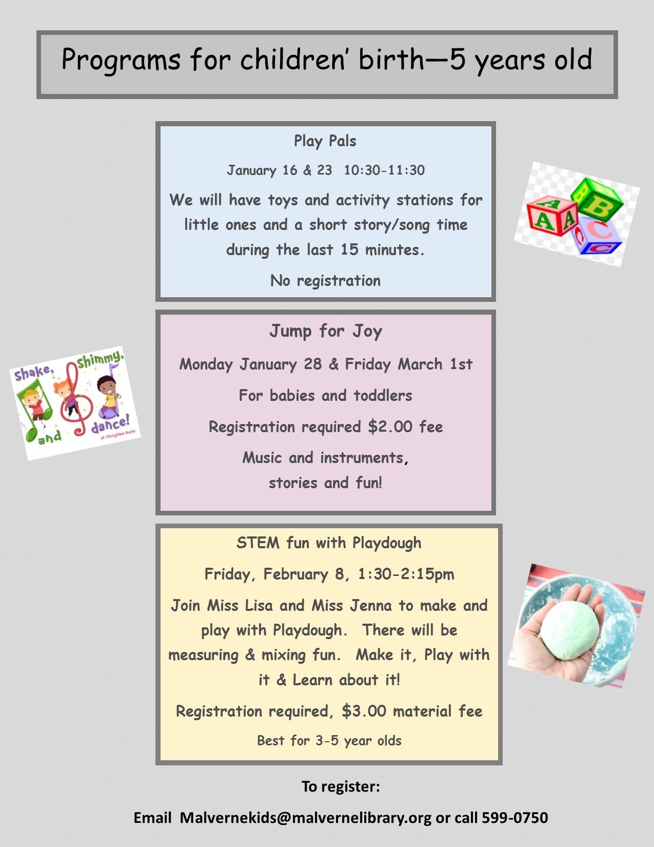 preschool programs for january february 2019